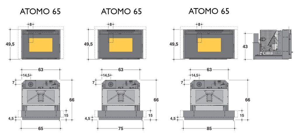 ets bonnel caminetti montegrappa atomo 65 75 85. Black Bedroom Furniture Sets. Home Design Ideas