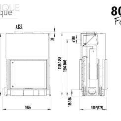 80x64SII Austroflamm (dimensions) - Ets Bonnel