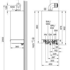 Vitodens 200W - VIESSMANN (Dimensions)