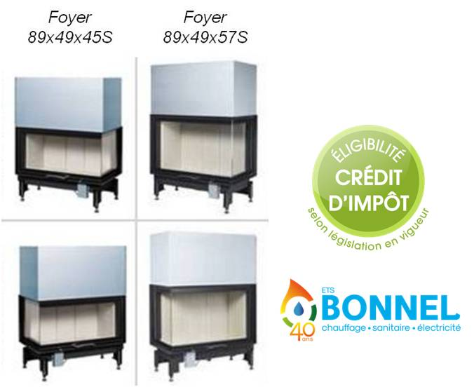 Credit Impot Chauffage Bois - Ets Bonnel Austroflamm 89x49x45S et 89x49x57S