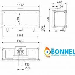Foyer Danta 1100 Wanders (dimensions) - Ets Bonnel